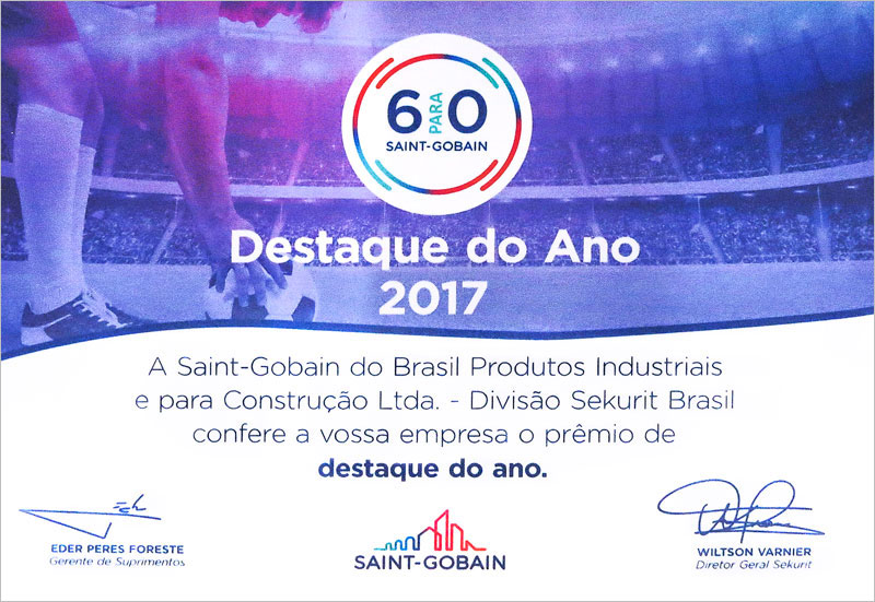 Destaque do Ano 2017 Saint Gobain